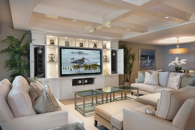 Moraya Bay Residence Contemporary Family Room Miami