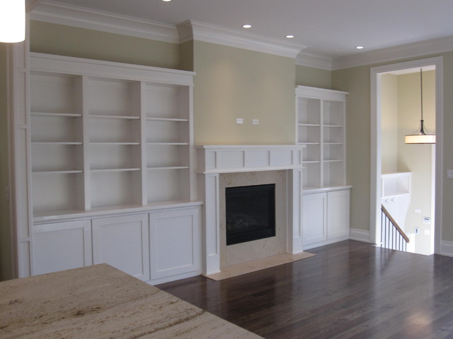 More Built Ins Modern Family Room Chicago By