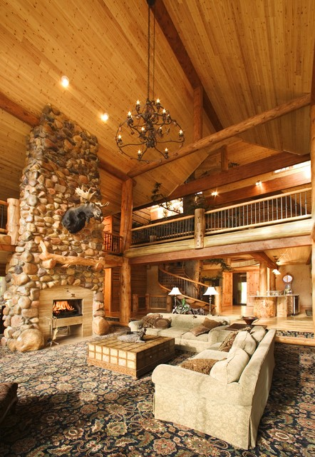 Morgan Cabin rustic-family-room