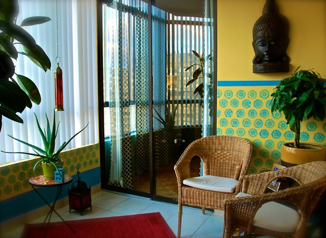 Moroccan Sunroom Design eclectic-family-room