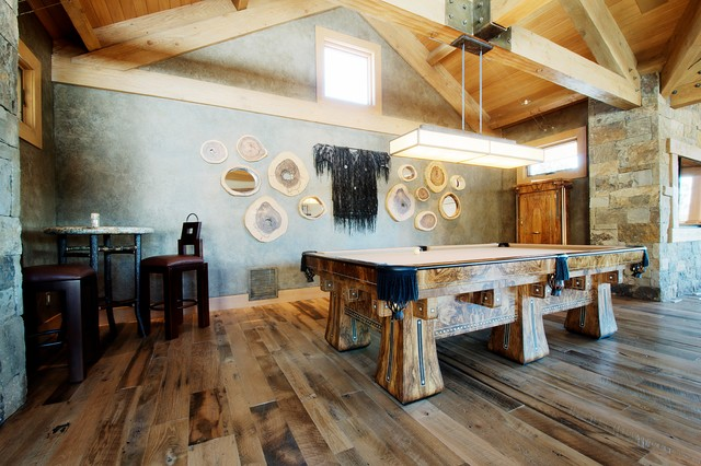 Mountain Home Game Room rustic-family-room