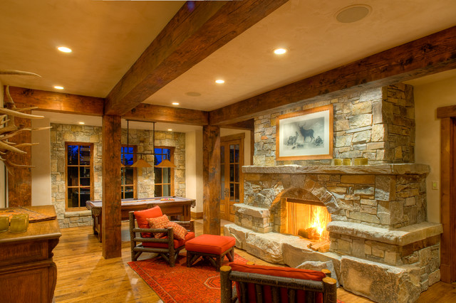 Mountain Modern rustic-family-room