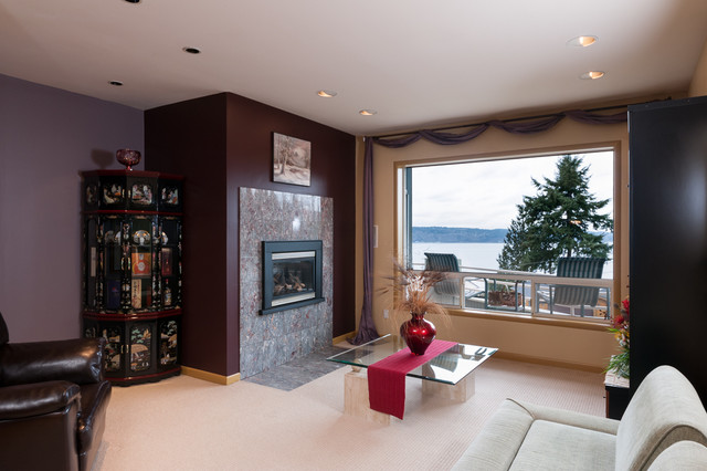 Mukilteo View Home - For Sale! contemporary-family-room