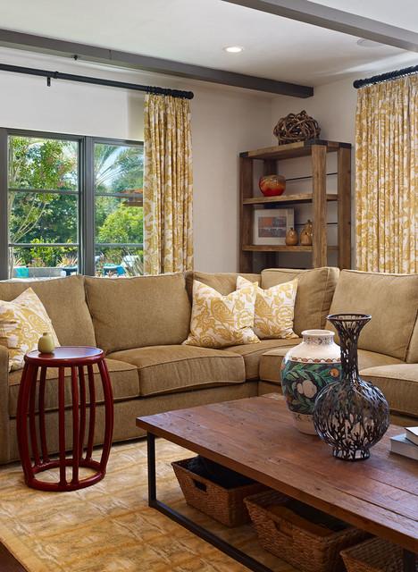 Mullberry lane residence mediterranean family room for Mullberry home