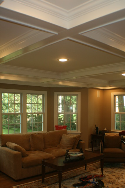 multi level addition - master suite/family room traditional-family-room