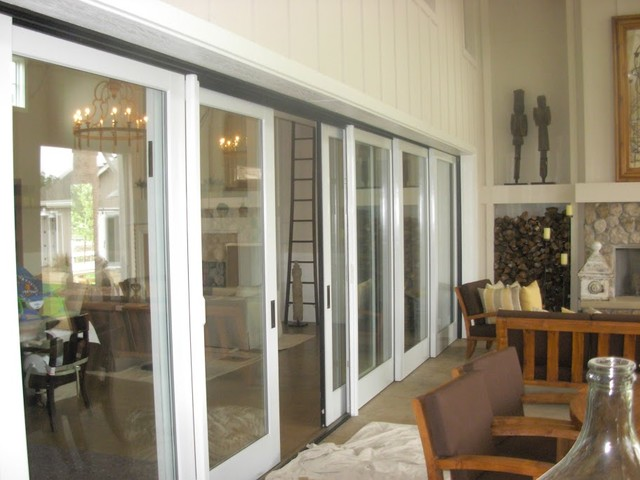 Multiple Panel Sliding Patio Doors Contemporary Family Room