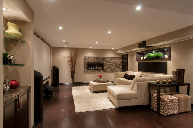 Multipurpose Basement - contemporary - family room - ottawa - by