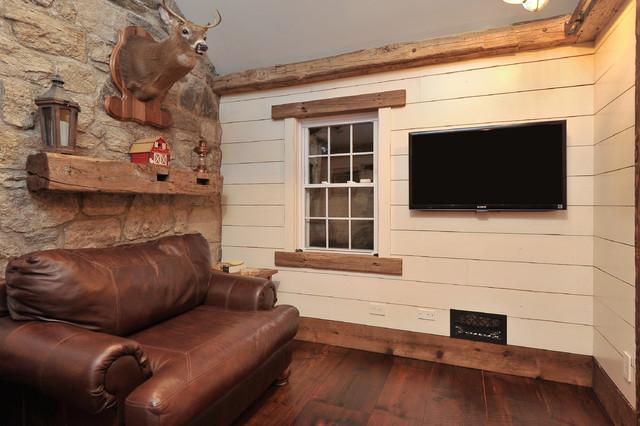 Mushroom board base trim - Rustic - Family Room - New York