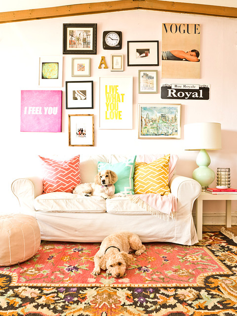 The Everygirl shabby-chic-style-family-room