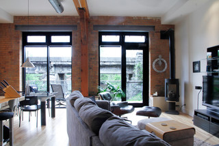 My Houzz George Jean Almonte On Industrial Family Room Ottawa By Esther Hershcovich