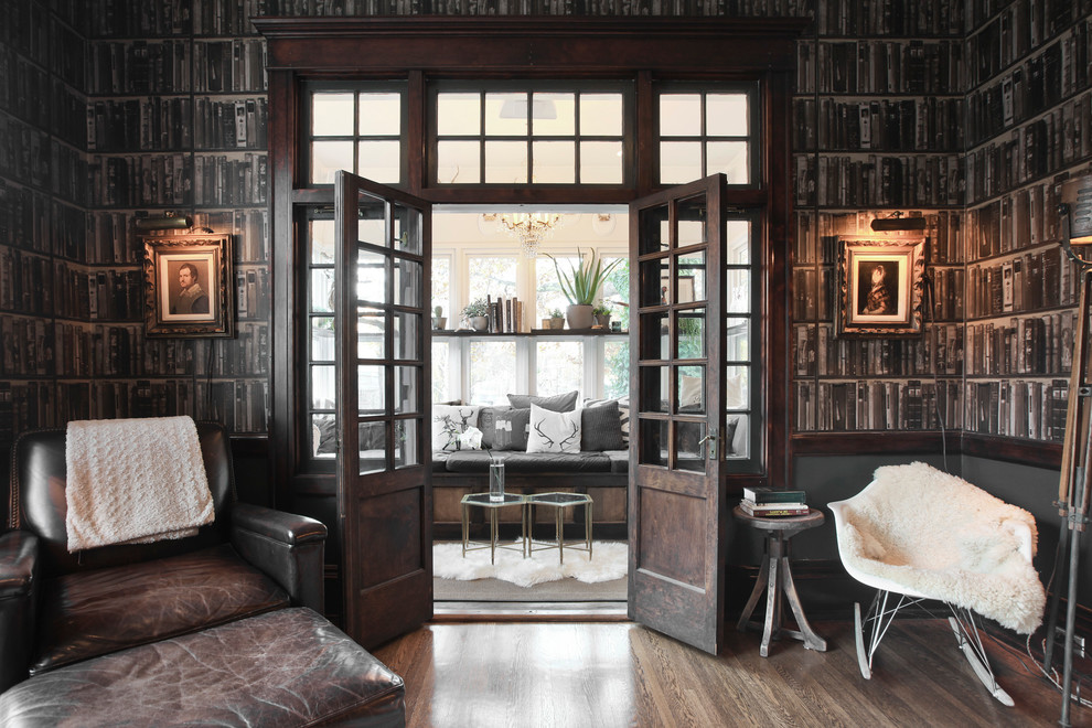 Example of a classic family room design in Salt Lake City