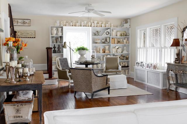 My Houzz Joanna Madden Shabby Chic Style Family Room