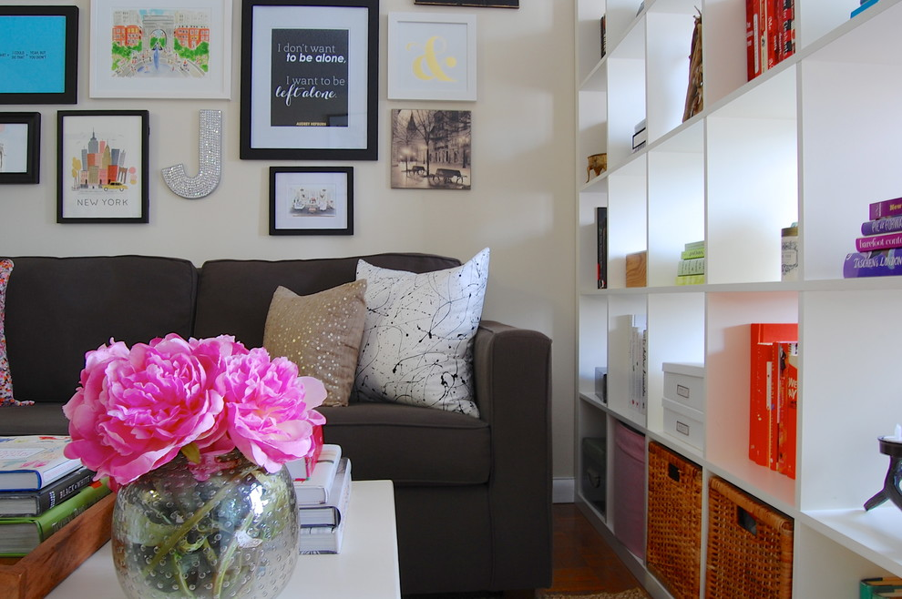 Inspiration for an eclectic family room remodel in New York