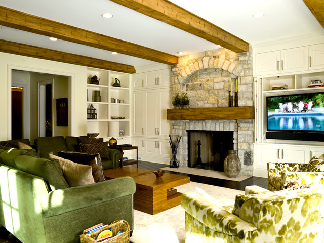French country traditional family room chicago by for French country family room