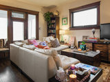 eclectic family room My Houzz: Wanderlust Fueled Decor in Downtown Utah (13 photos)