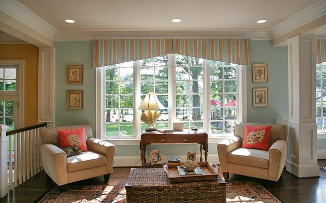 Nantucket Style Shingled House In Potomac, MC traditional-family-room