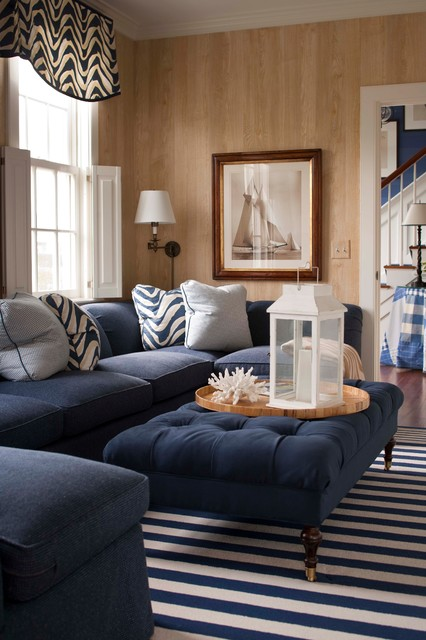 Nantucket Summer Home Traditional Family Room Boston