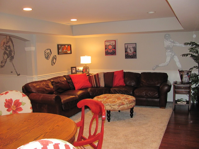 Naperville Mancave traditional-family-room