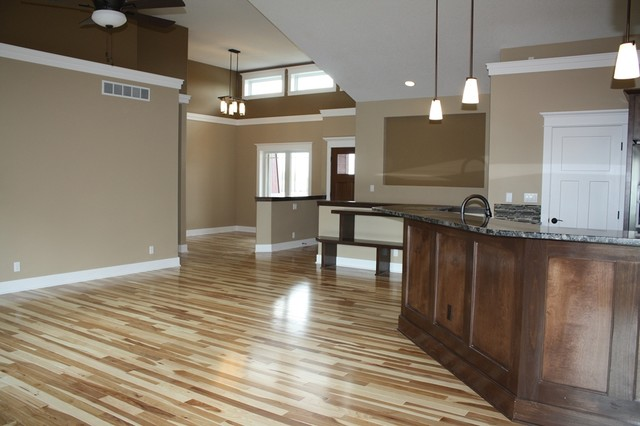 Natural Hickory Floors Traditional Family Room Cedar