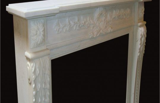 Natural Stone Fireplace mantels family-room