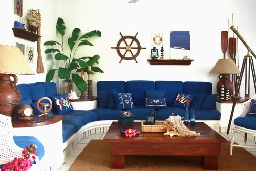 Traditional Family Room By New York Artists Artisans Go Nautical Collections