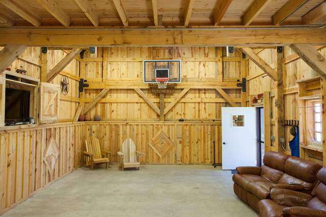 Nebraska Party Barn Traditional Garage And Shed