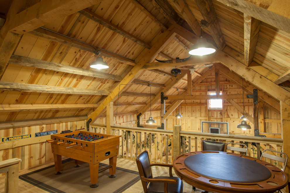 Nebraska Party Barn Traditional Family Room Other By Sand Creek Post Beam