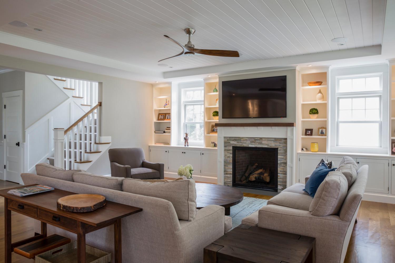 Needham Pond House Family Room