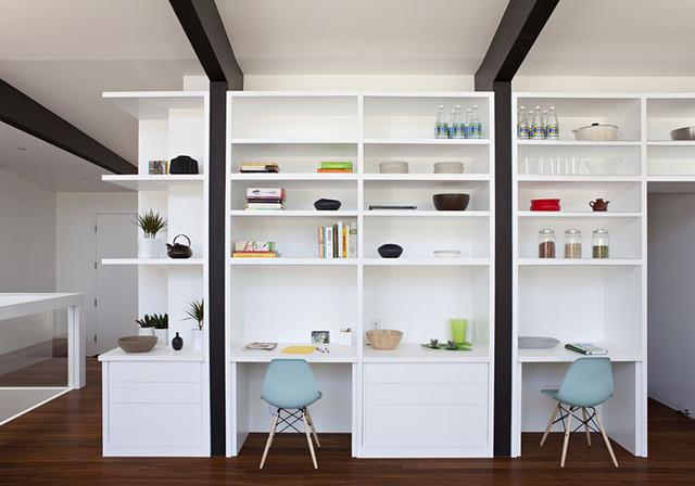 Net-Zero Energy Home modern-family-room
