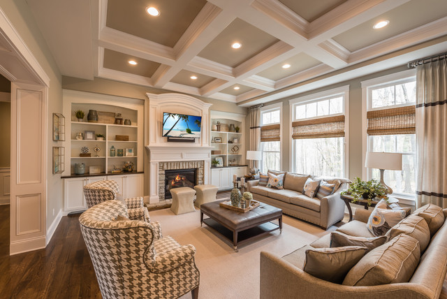 Traditional living room ideas houzz for Family room picture ideas