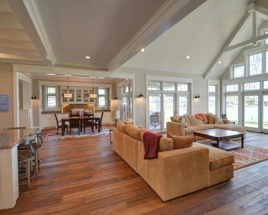 craftsman open floor plans home design photos decor ideas