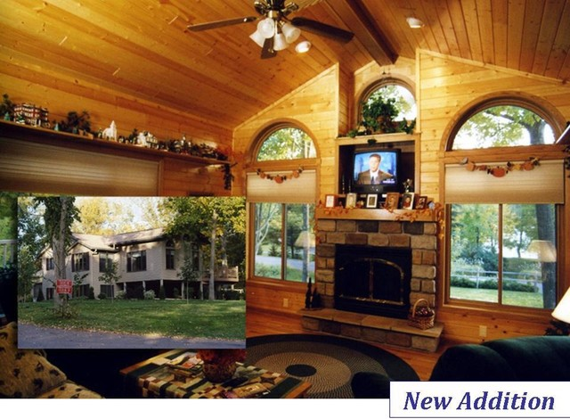 New Construction & Additions rustic-family-room
