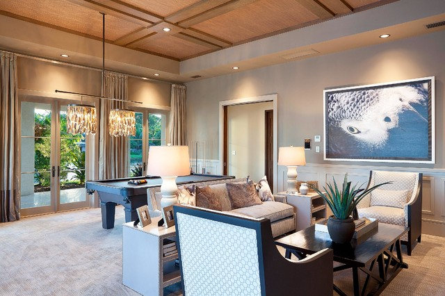 New Construction Le Lac contemporary-family-room