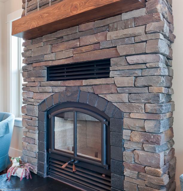 New Custom Build Home With Spanish Olive Uintah Ledgestone traditional-family-room