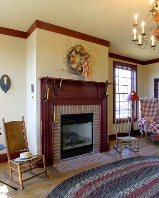 New England Salt Box Style traditional-family-room