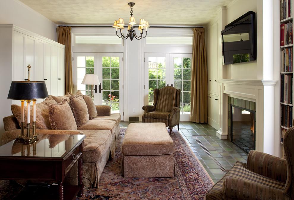 Elegant family room photo in San Francisco