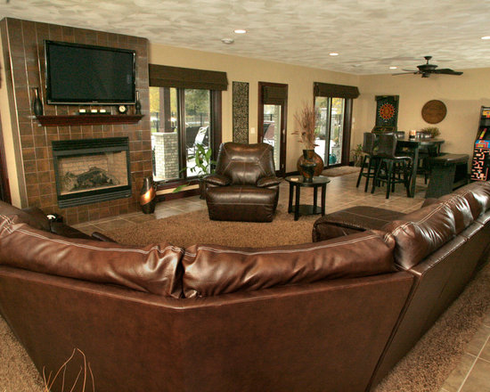 Milwaukee Family Room game room Design Ideas, Pictures, Remodel ...
