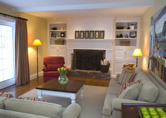 New Life to a Family Room! traditional family room