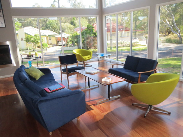 New Mid Century Modern House Midcentury Family Room