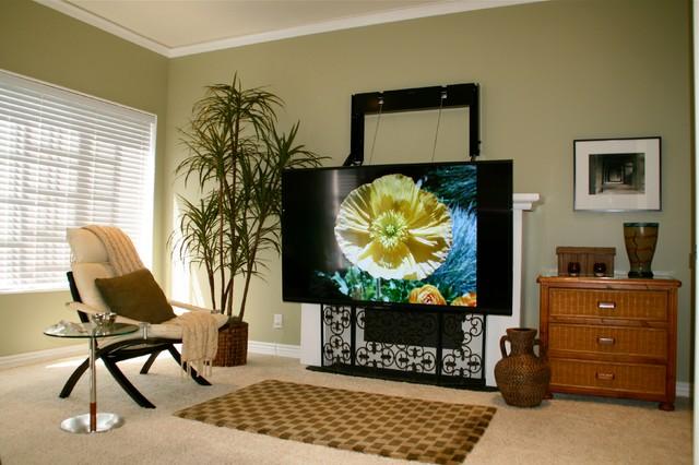 New model ComfortVu fireplace TV mount contemporary-family-room - New Model ComfortVu Fireplace TV Mount - Contemporary - Family