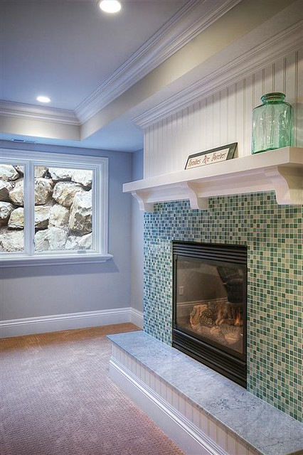 Fireplace Traditional Family Room Salt Lake City By Renovation Design Group