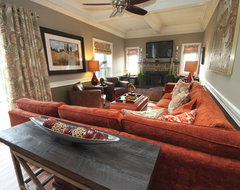 Nobleton Country Home eclectic-family-room