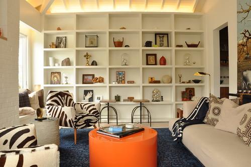 mesa de centro naranja