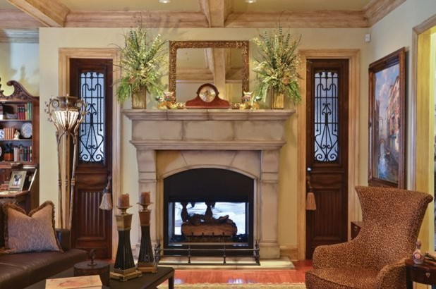 Normandy Fireplace Mantel traditional-family-room