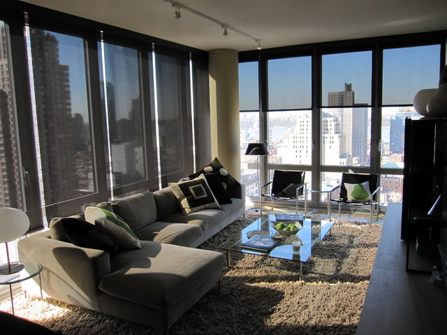 NYC apartment Contemporary Family Room New York by Stylish