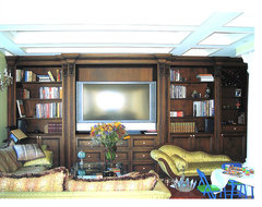 NYC Entertainment Center traditional-home-theater