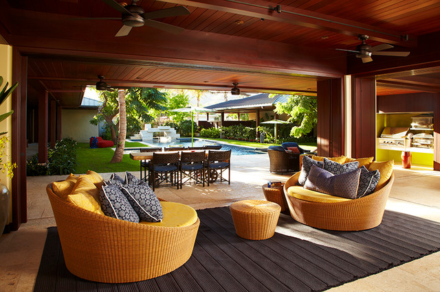 Oahu Beach Front Residence - Adaptable Indoor Outdoor Lounge ...