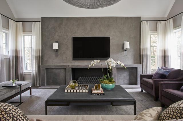 Oak Street Klassisch Modern Wohnzimmer