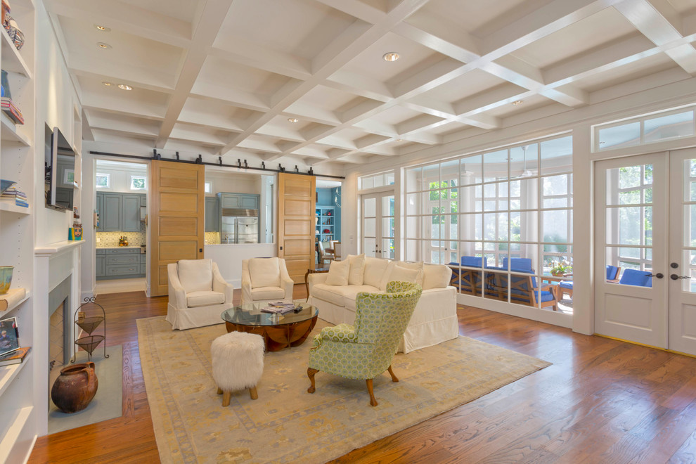 Inspiration for a timeless family room remodel in New Orleans