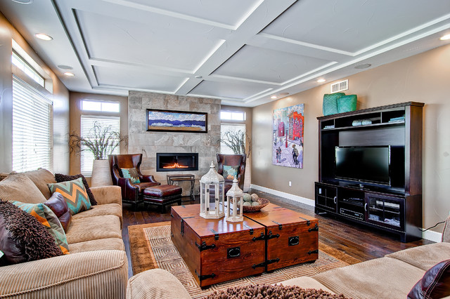 Oakwood Homes Fireplaces - Contemporary - Family Room - Denver ...